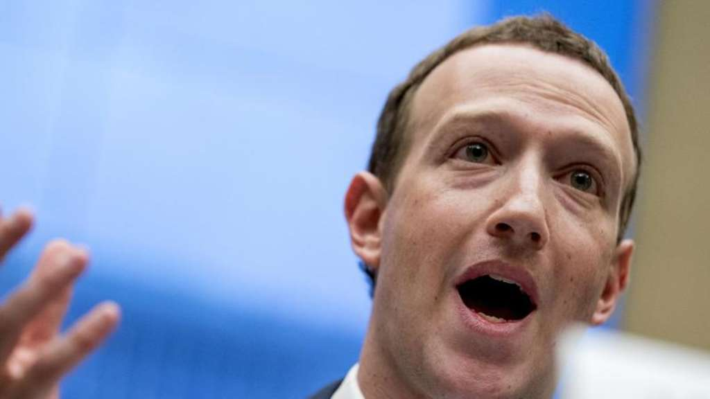 Facebook-Chef Mark Zuckerberg im April 2018 während einer Anhörung in Washington. Foto: Andrew Harnik/AP