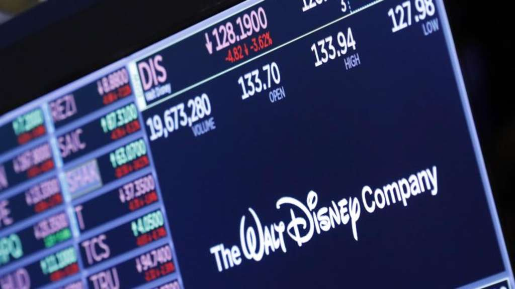 """The Walt Disney Company"" an der New Yorker Börse. Foto: Richard Drew/AP/dpa"
