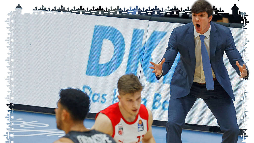 Hamburg Towers Head Coach Pedro Calle steht wild gestikulierend am Court.